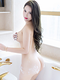 性感女神尤妮丝浴室湿身奶油遮点
