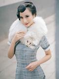 有古典气息的江南旗袍美女