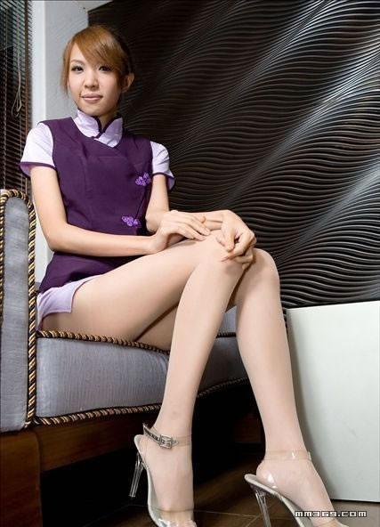 模特靓丽生活照秀美腿